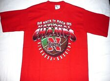 LADIES UNIVERSITY of NEBRASKA HUSKERS 94/95 NATIONAL CHAMPIONS T-SHIRT~XL/18