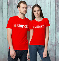 Mickey and Minnie #Broke #Spoiled Funny Valentine's Day T-Shirts for Couples!