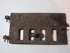 Vintage Herald Cook Heater Door Emblem Metal Appliance Decal Script Trim Deco