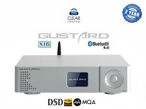 GUSTARD X16 - DSD DAC - USB - MQA - BLUETOOTH - DA WANDLER - SILVER - TOP !