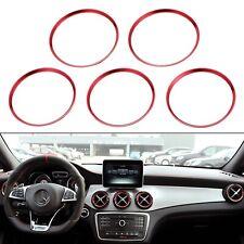 5x Lüftungsringe Lüftungsdüsen Alu Rot passend für Mercedes Benz A B GLA CLA