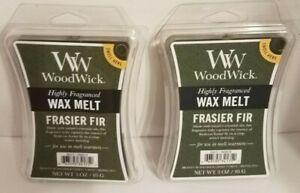 2 Packs WOODWICK Highly Fragranced Wax Melts FRASIER FIR Scented 3 Oz Each