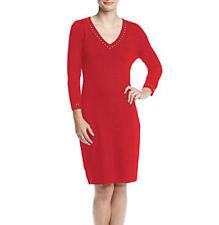 Calvin Klein V-Neck Stud Trim Sweater Dress SIZE XL