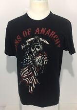 Sons Of Anarchy Men's Medium Shirt Black Unique Graphics USA Flag Rare