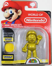 World of Nintendo ~ GOLD MARIO Action Figure ~ Super Mario Brothers (Bros.)