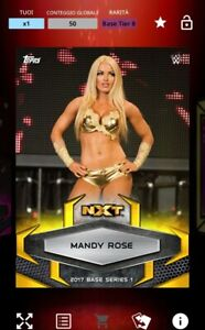 TOPPS WWE SLAM - Mandy Rose 50cc Gold Rush 2017 - DIGITAL CARD