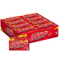 REDHOTS CINNAMON CANDY 24ct Box, Original Red Hots 0.9oz Packs, FREE SHIPPING!