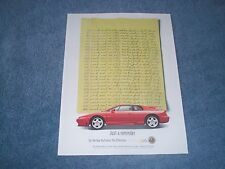 "1994 Lotus Esprit S4 Vintage Ad ""Just A Reminder"""