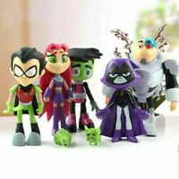 Teen Titans Go Action Figure PVC Toy Robin Cyborg Beast Boy Raven Christmas Gift