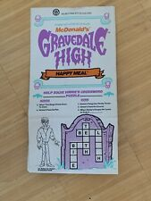 Gravedale High McDonalds Happy Meal Bag New 1991 Rare