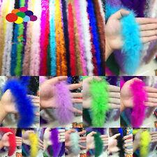 2M Turkey Feather Strip Fluffy Boa Wedding Women Party Decoration Crafting Piece
