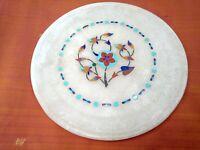 Plat en marbre Pierres semi précieuses Dessous de verre Inde Pietra Dura Q4