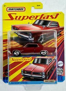 Mattel Matchbox 14 Superfast 1964 PONTIAC GRAND PRIX 1:64 Diecast Model Car MOC