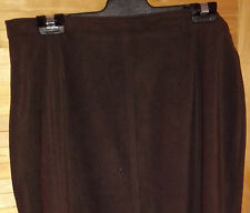 LADIES SIZE 16  CHOCOLATE BROWN STYLE SKIRT OFFICE OR CASUAL WEAR