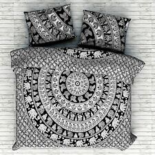 Elephant Mandala Quilt Duvet Doona Cover Indian Bohemian Bedding Set Queen King