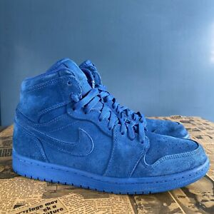 Nike Air Jordan 1 Retro High Blue Suede ( 332550-404 ) Size 9