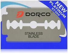 Dorco ST-300 Platinum Stainless Double Edge Razor Blades  Blue Pack - 100 Blades