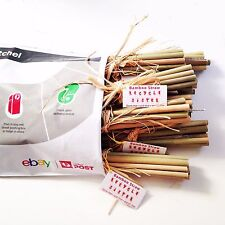 bamboo  re useable  straws 10 packs =100 straws