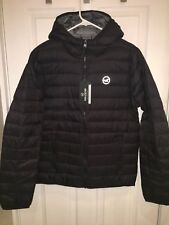 2017 Hollister by Abercrombie LIGHTWEIGHT DOWN HOODED PUFFER JACKET Black XL