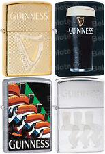 Zippo Guinness Beer Set Of 4,Toucan 29647,29648,29649,Harp Brass 29651 All NEW