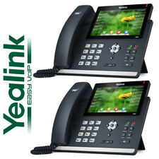 "2 Pack Lot Yealink SIP-T48S SIP Phone 7"" Optima Bluetooth Gigabit VoIP 16 Line"