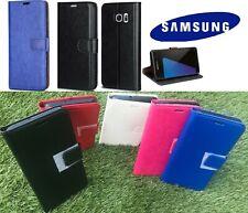 Lujo Cuero Abatible Estuche Billetera Cubierta para Samsung Galaxy A3 A5 S3 S4 S5 S6 Borde
