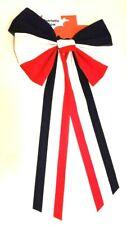 "Bow Patriotic Red White Blue Stripes Plastic Felt Celebrate Party 12"" x 24"" New"