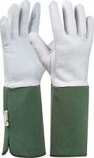 Tommi Gartenhandschuhe Rose Gr 10 dunkelgrün Ziegenlederhandschuh