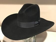 $150 Renegade by Bailey XX Fur Wool Blend Gus Western BLACK Hat 7  56cm  BLOWOUT