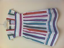 GIRLS JOULES SUMMER PARTY MULTI STRIPE DRESS LABELLED 3 4 5 YRS UNWANTED GIFT