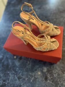 VALENTINO Garavani Poudre Embellished Slingback Sandal EU 37/US 7 $995
