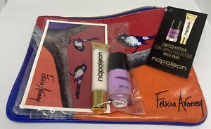 Napoleon Perdis LOVE BIRDS GIFT SET Lip Gloss Nail Polish Makeup Bag BRAND NEW