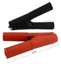 2 Stück Krokodilklemmen 1x rot + 1x schwarz bis 30A Krokodil Klemmen 73mm #398