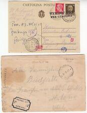ITALY 1942 CENSORED card *SAVONA-FREIBURG* & 1943 prisoner of war censor entire