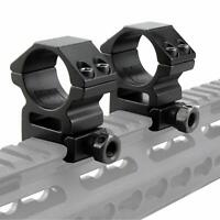2Pcs 25.4mm 30mm Convert Rings Scope Barrel Mount with 20mm Picatinny Rail