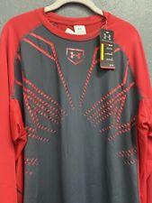 NWT Men's Under Armour UA Heatgear 3/4 sleeve Fitted Shirt RED  XL