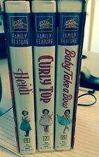 Fox Video VHS Family Favorites Shirley Temple Movies - Box Set Of Three - 2000