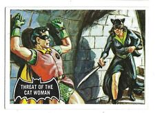 66 BATMAN TOPPS THREAT OF THE CAT WOMAN BLACK BAT 1966 NO 31 NRMINT+ 5042