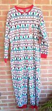Jammies For Your Families Womens One Pc Pajamas Sz 2X XXL Christmas Tree Fleece
