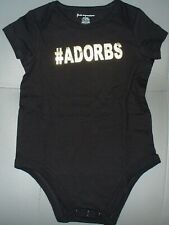 BRAND NEW MACYS FIRST IMPRESSIONS BABY ROMPER ADORBS GOLD & BLACK 6-9MONTHS WOW