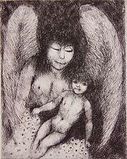 Edouard Joseph GOERG (1893-1969): Eau forte originale. Carte de voeux 1960.