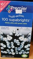 100 Led white Lights multi action.