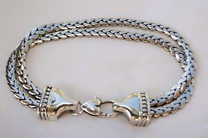 New ALTERED Brighton Double Flat Silver Chain Bracelet