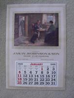 Vintage Robinson Salesman Sample 1925 Wall Calendar Litho Prints Both Sides