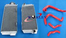 For HONDA ATC250R ATC 250 R 1985 1986 85 86 Aluminum radiator & hose RED