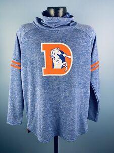 Women's Nike Dri-Fit NFL Denver Broncos Blue Polyester Sweatshirt Large