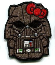HELLO KITTY AS DARTH VADER STAR WARS EMBROIDERED IRON ON PATCH FREE SHIPPING!