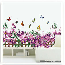 Butterfly Animal Border Wall Stickers Owl Monkey Jungle Nursery Bedroom Decals