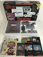 Super Nintendo SNES Console System Box Boxed Mario Paint 100% Complete Nr MT