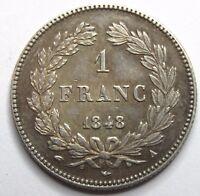 Louis-Philippe Ier - 1 Franc - 1848 A - Paris - QUALITE